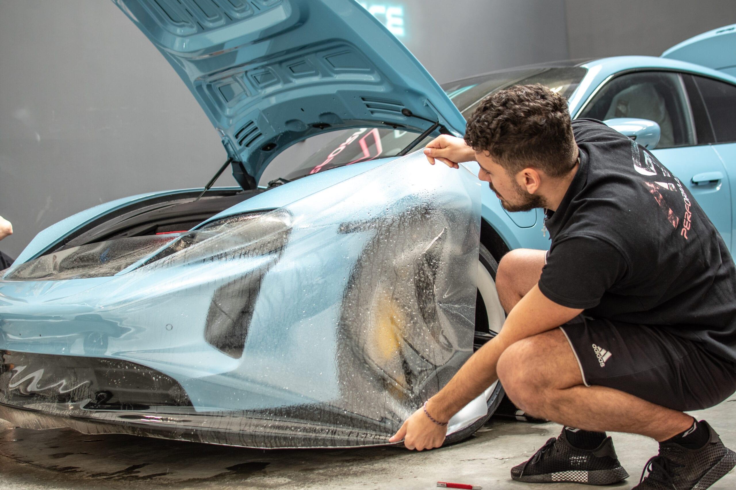 PPF polep Porsche Taycan