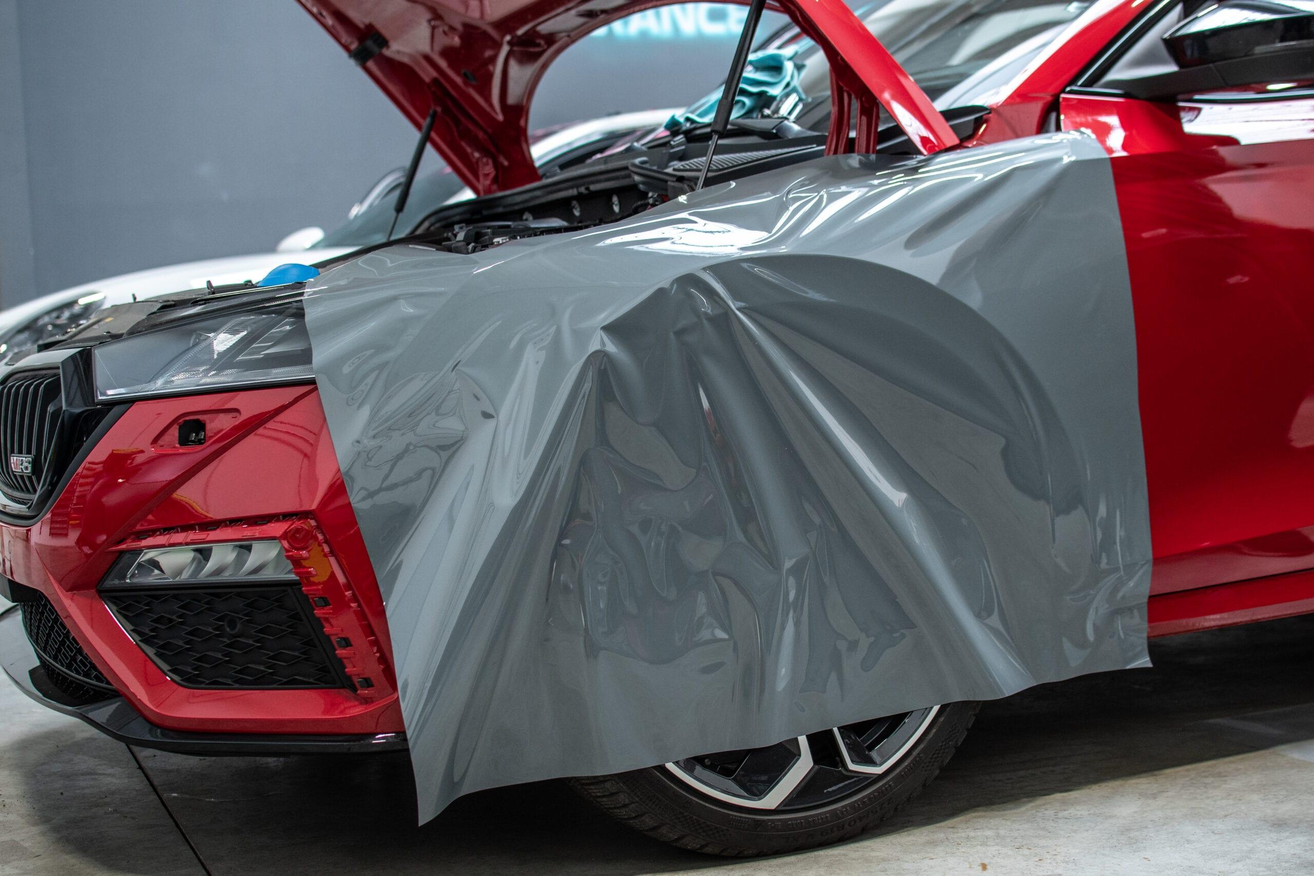Škoda Octavia RS iV Wrap polep změna barvy