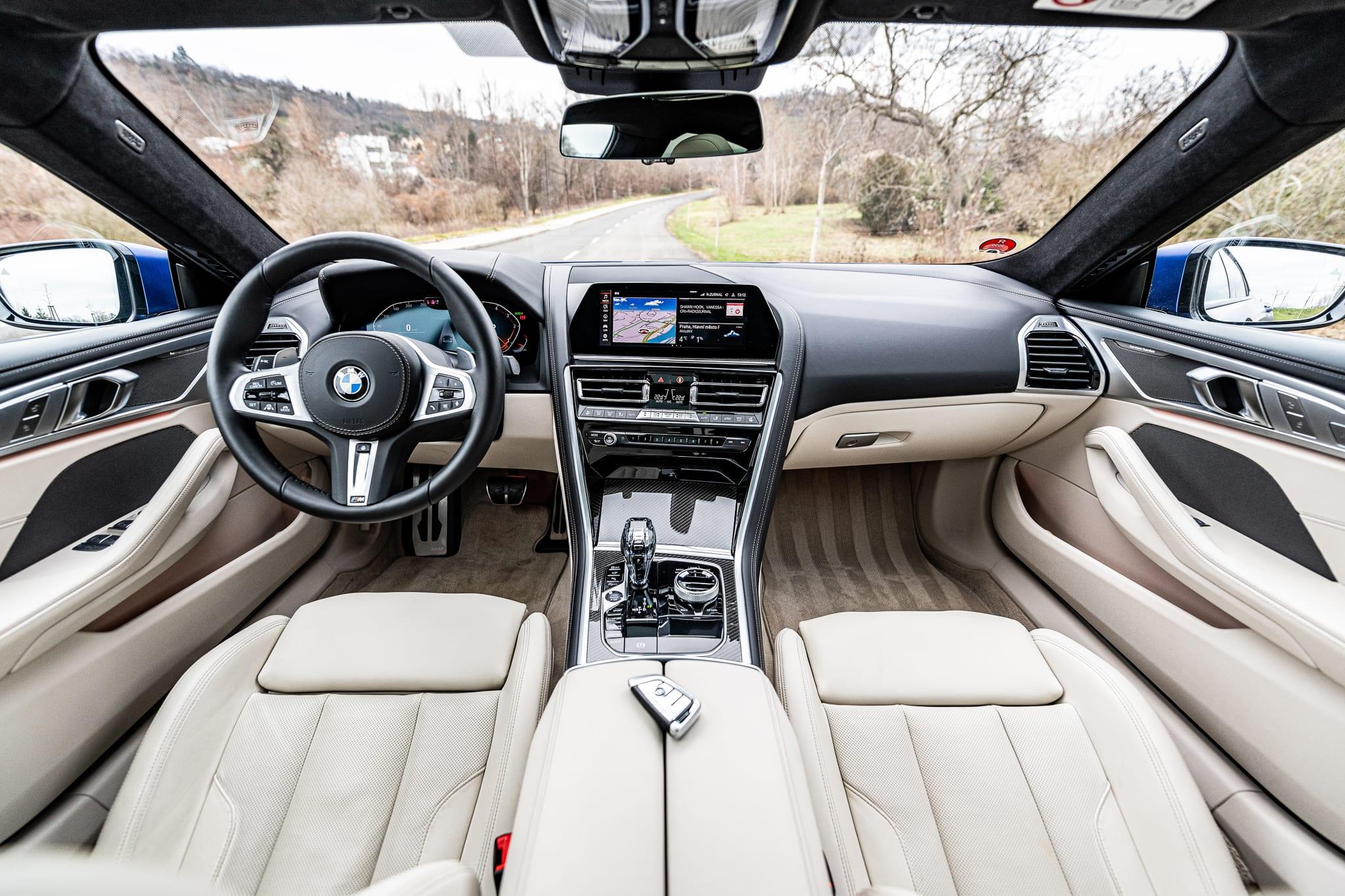 BMW 840d Gran Coupé interiér